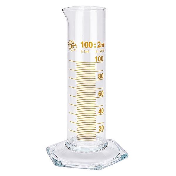 100 ml Messzylinder NF braun graduiert